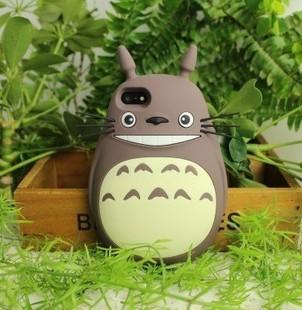 宫崎骏动漫iphone5 5s卡通手机壳苹果4s龙猫totoro创意硅胶保护套图片