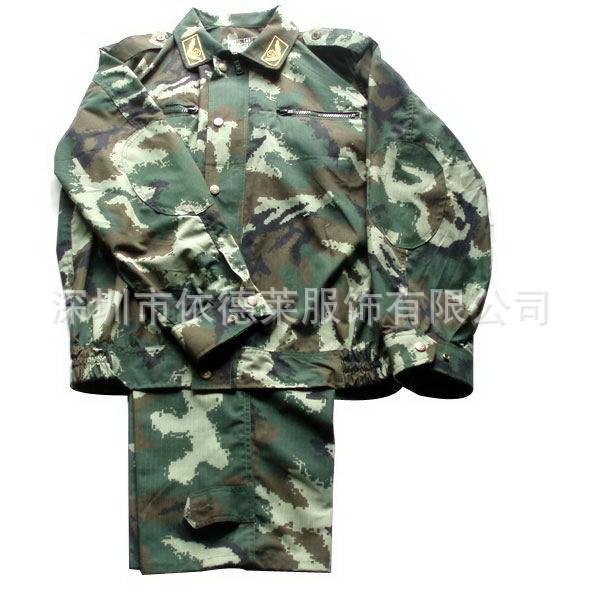 厂家批发定制 长袖迷彩服数码迷彩服 学生军训迷彩作训服