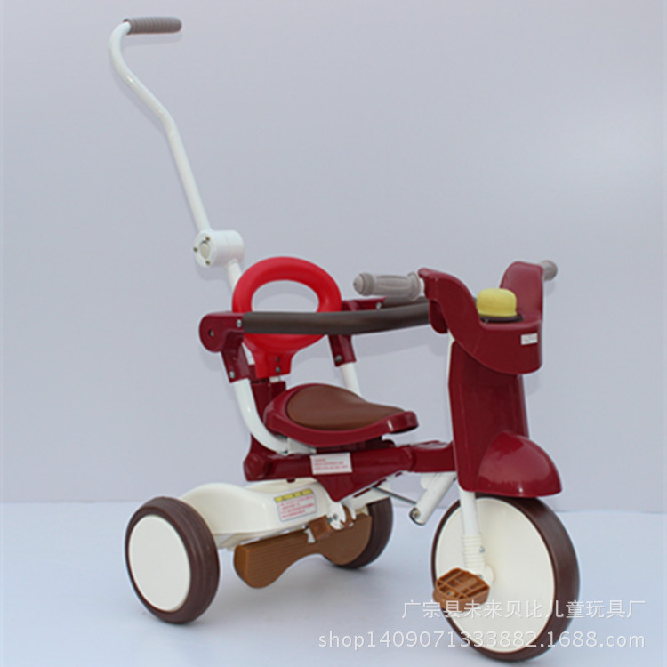 2014正品原装出口欧美儿童三轮折叠三轮车 可推三轮脚踏车
