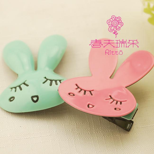 小兔子发夹_