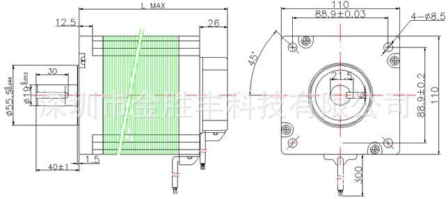 简易电动机设计图