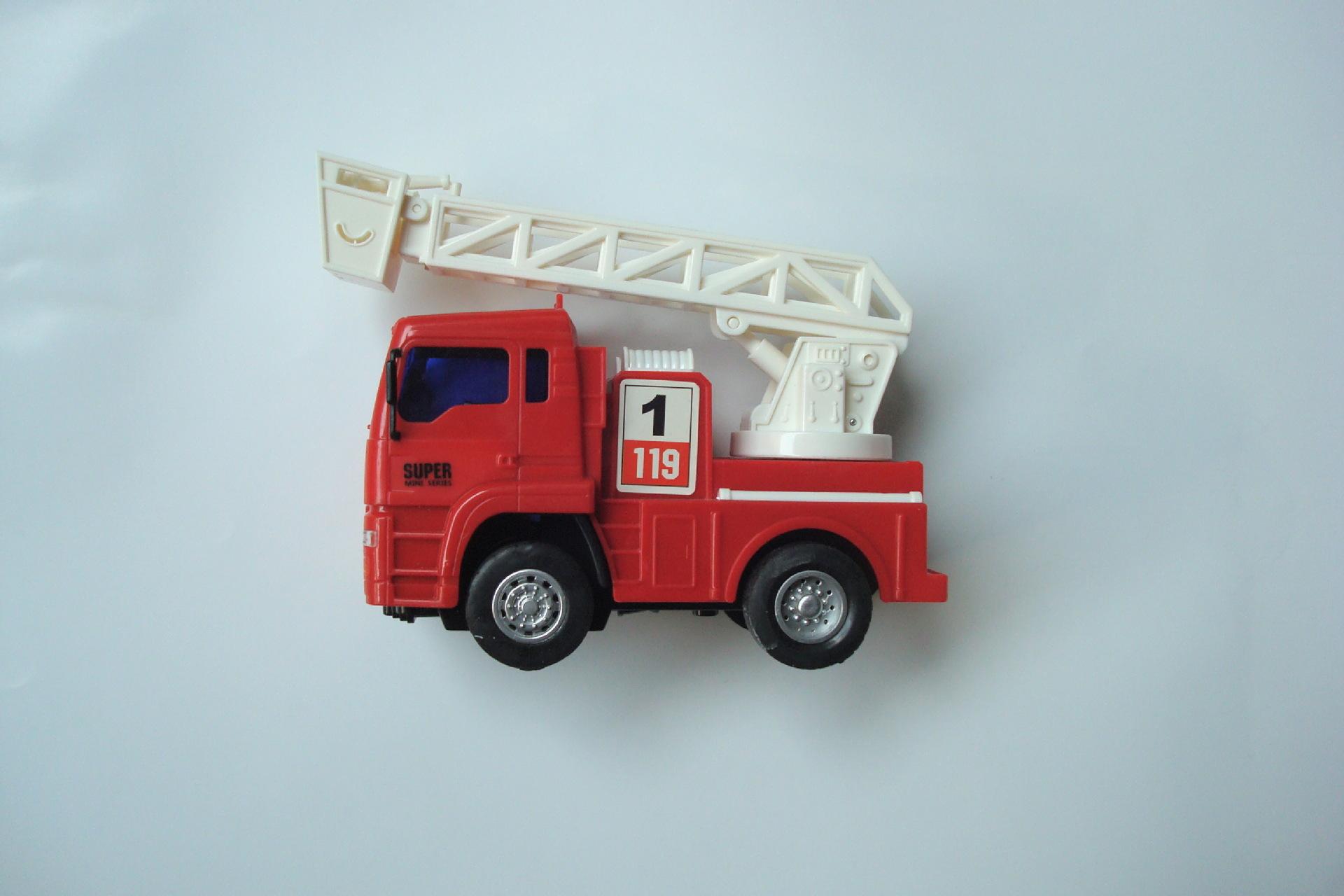 正品 益智惯性消防车 可发声 旋转 抬升 伸缩