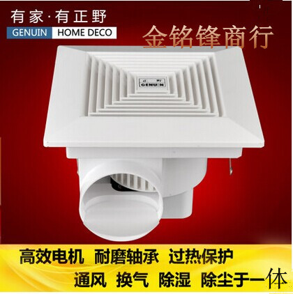 正野天花板塑料管道换气扇/排气扇 厨房卫生间排风扇BPT15-34C
