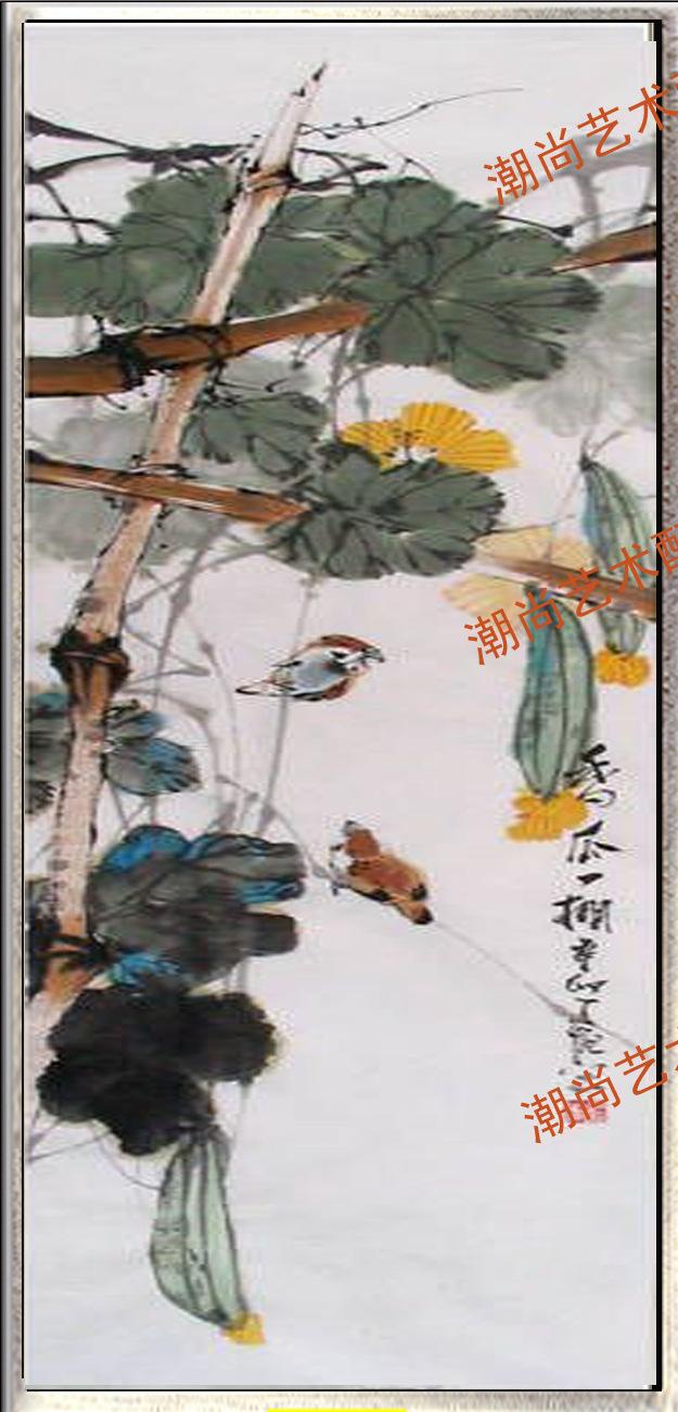 画漆画 金银箔工笔画 中式客房画 -国画 中国黄页