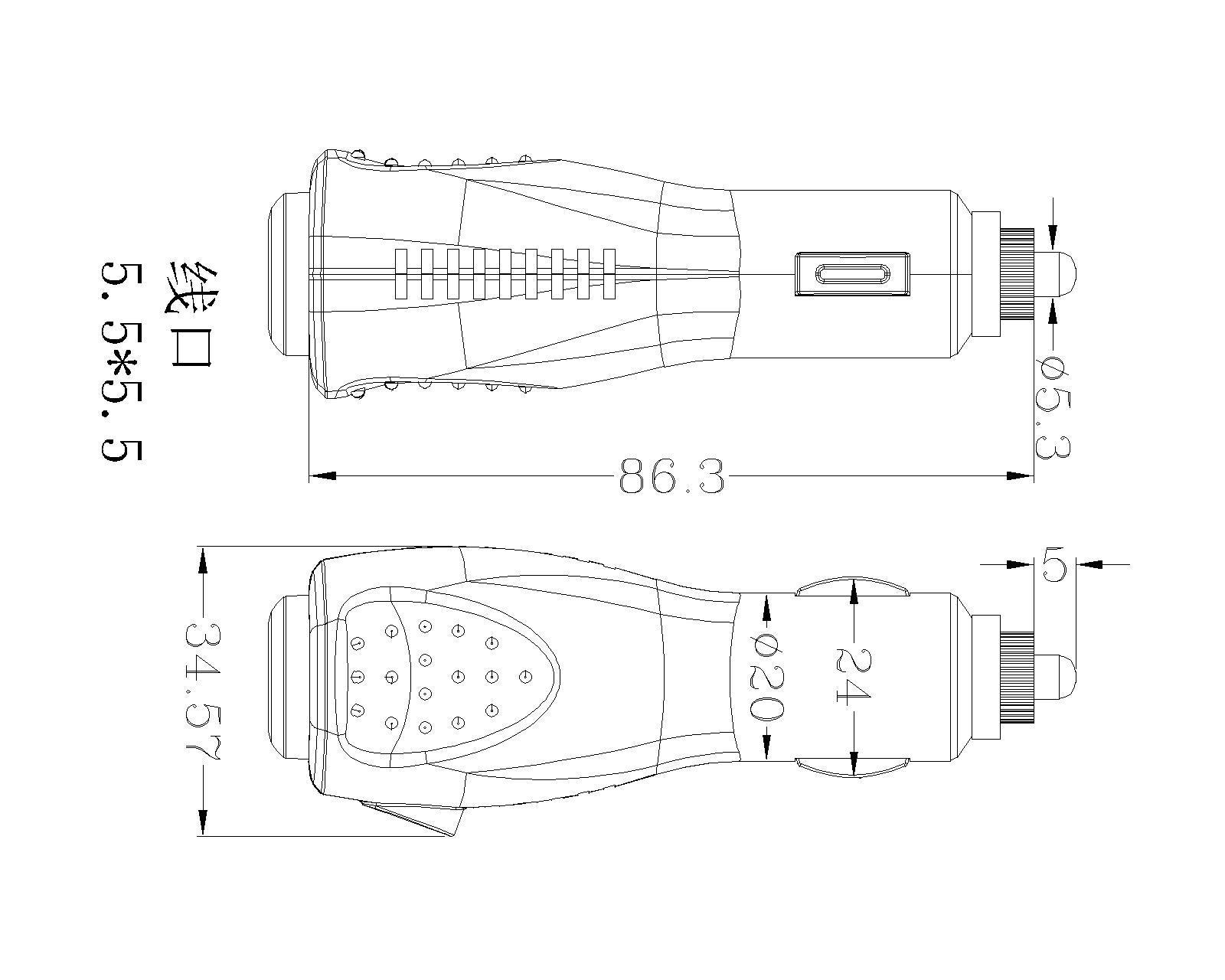 直销供应汽车车载usb充电器外壳 汽车充电器外壳汽车净化器外壳