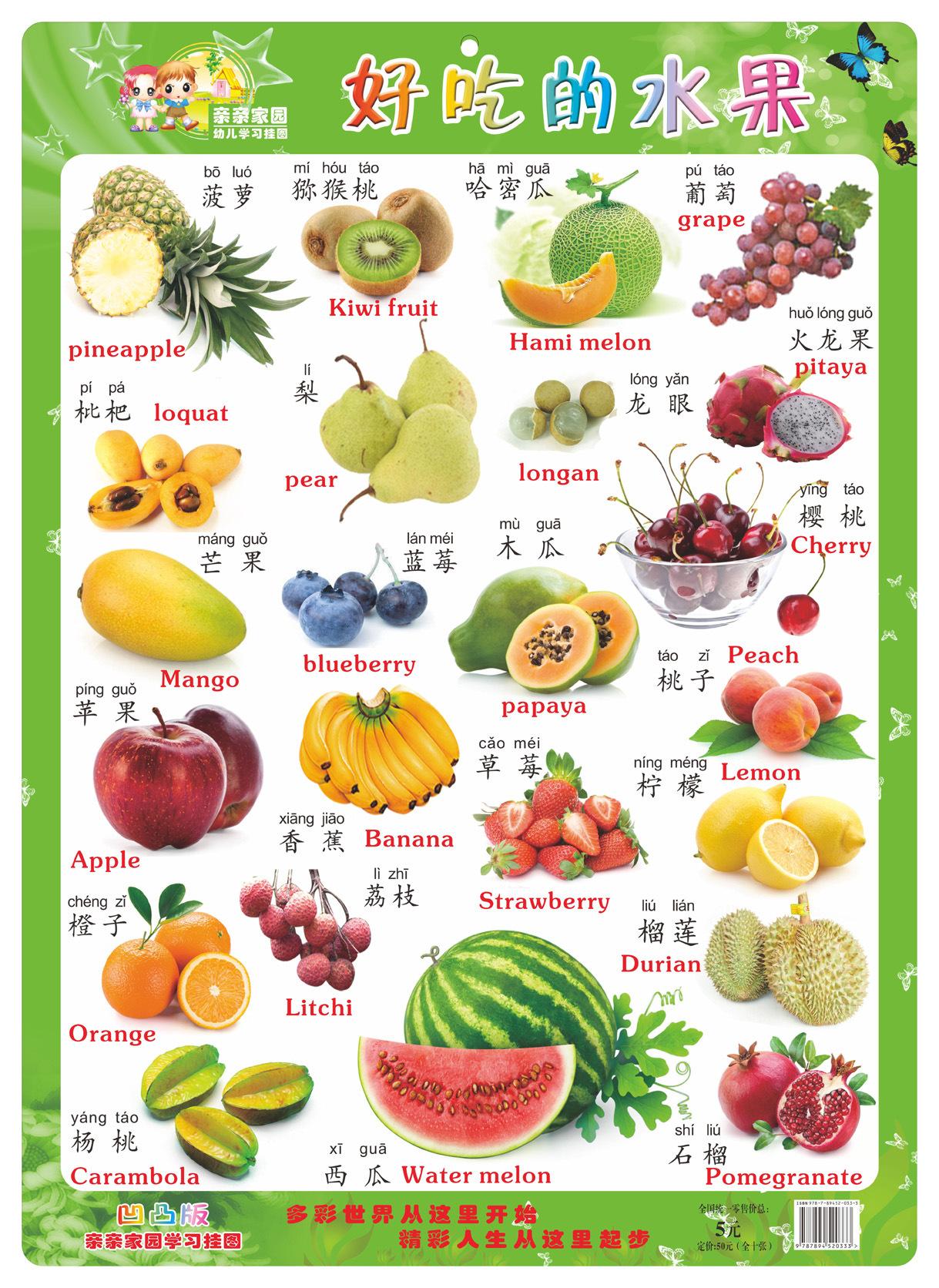 幼兒園好吃的水果主題墻