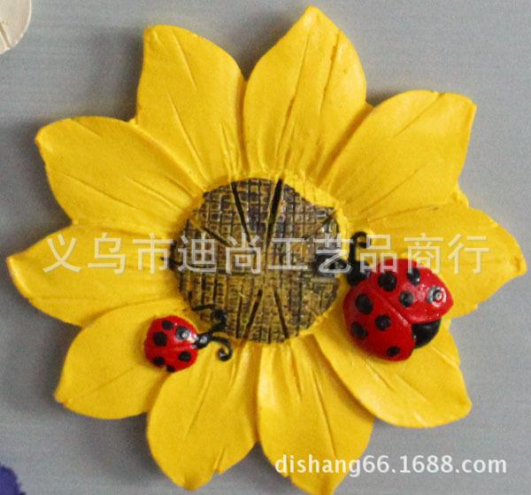 非洲菊太阳花甲壳虫创意冰箱贴磁贴装饰贴饰品创意留言便签贴特价 -