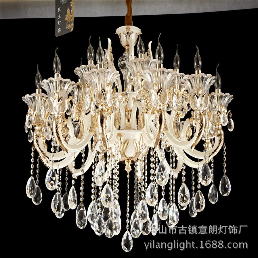 爆款锌合金弯管创意led艺术简约现代家居酒店大堂水晶吊灯