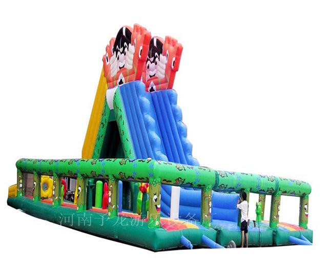 专业供应森林滑梯气模玩具 大中小型充气蹦床 充气儿童乐园