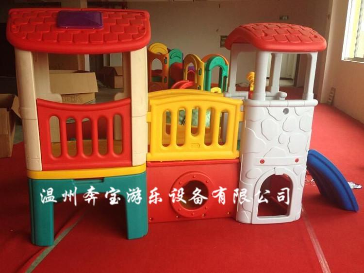 厂家批发直销小神童俱乐部组合滑梯 大型游乐设施幼儿园室外滑梯