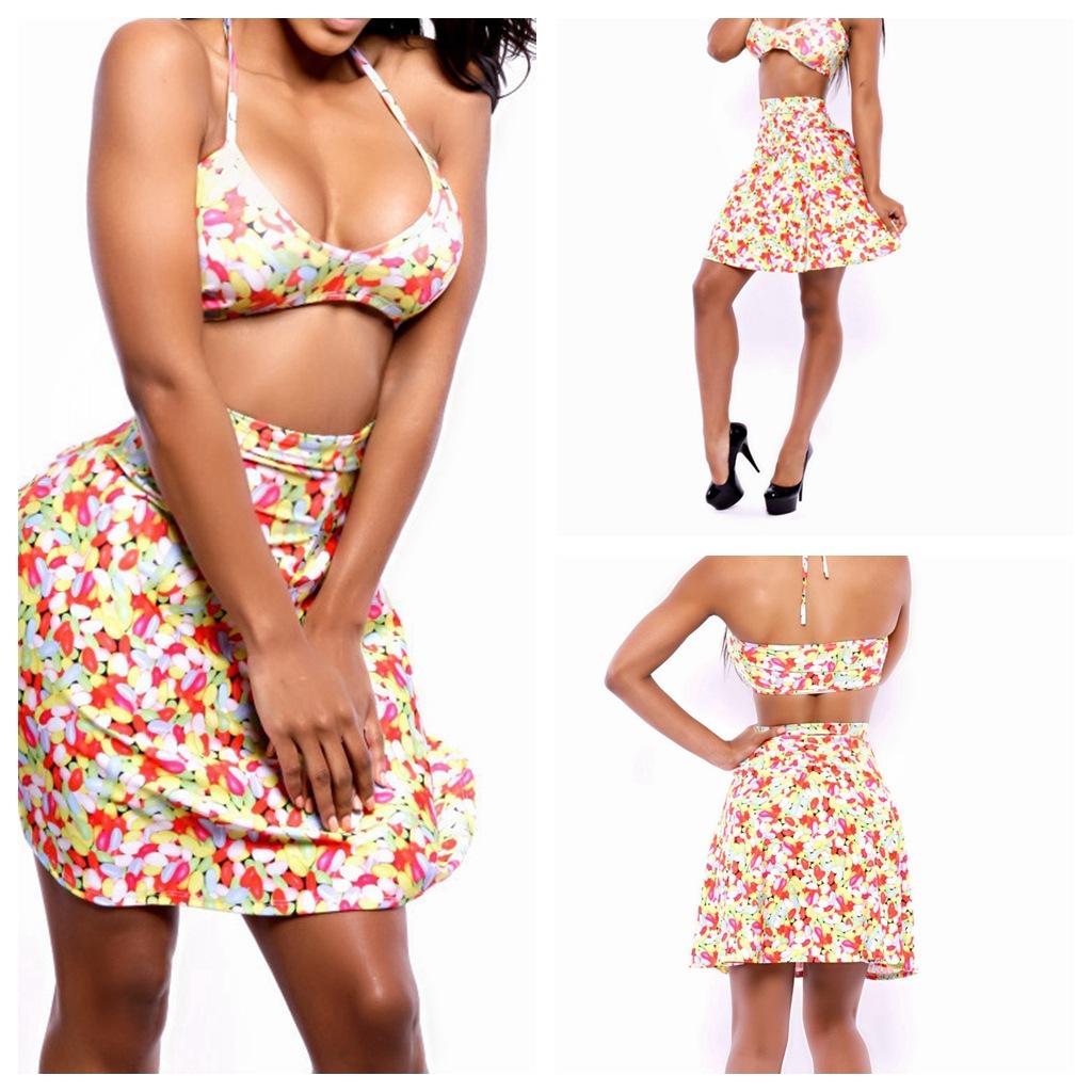 新款外贸比基尼bikini 女士品牌泳衣三件套 裙装大码保守泳
