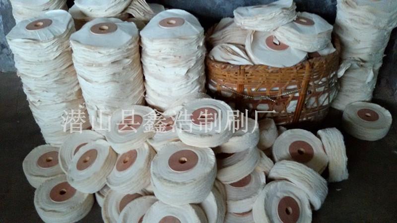 皮革抛光布辊纯棉打蜡辊刷布片漂白订皮布轮羊毛线轮