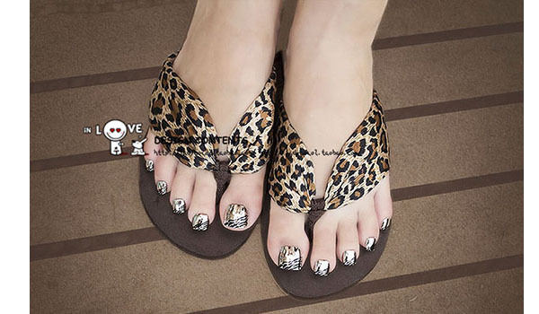 其他美甲产品-豹纹电镀金属脚指甲 美甲贴片 脚