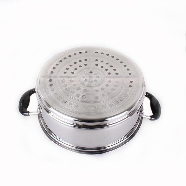 无磁加厚不锈钢蒸锅二层三层蒸笼多层蒸锅28-38cm电磁炉通用汤锅图片_53