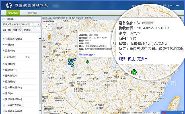 监控设备分布地图