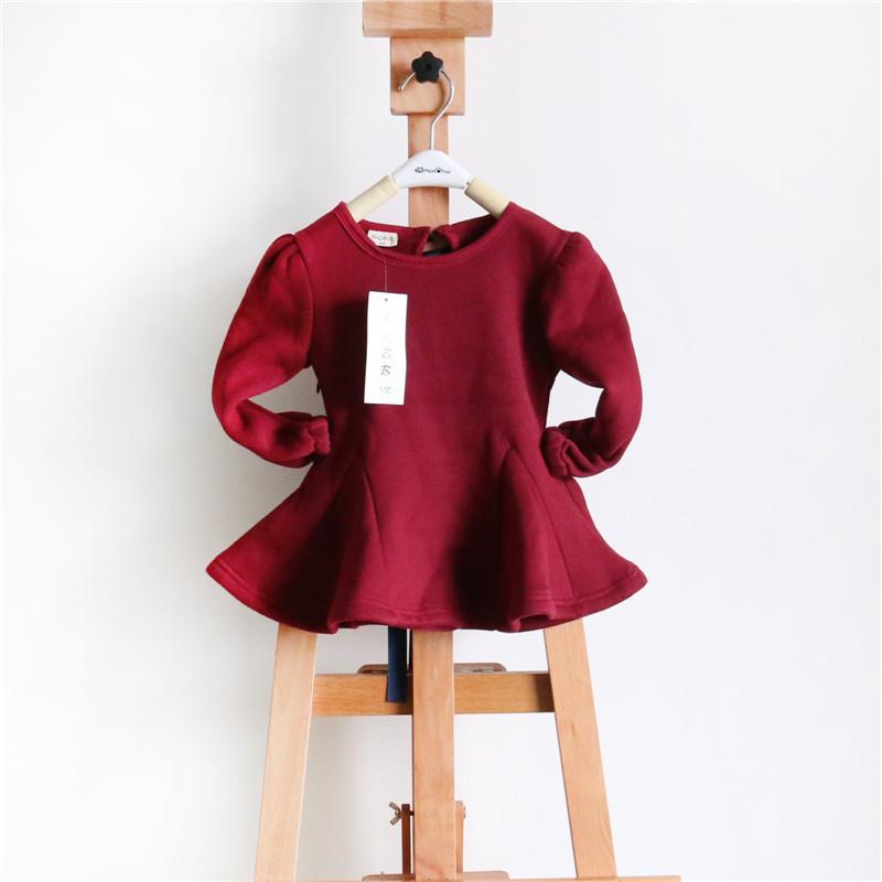 韩版外贸童装 14年热销款女童圆领蕾丝大摆连衣裙公主裙 厂家***