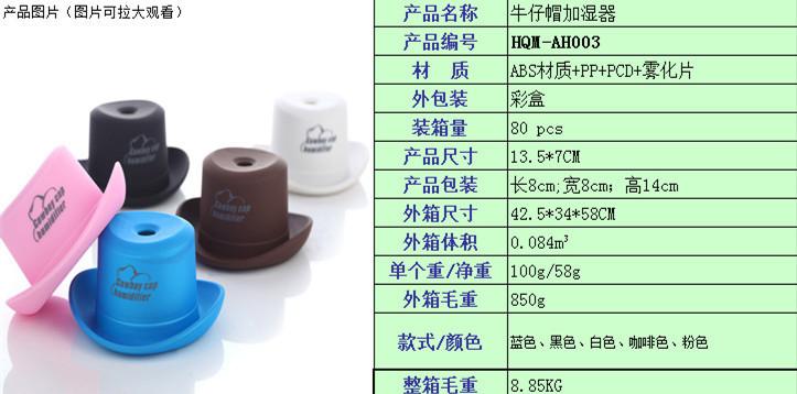 Atomizador tapas de botellas sombrero de vaquero de mini - Humidificar habitacion ...