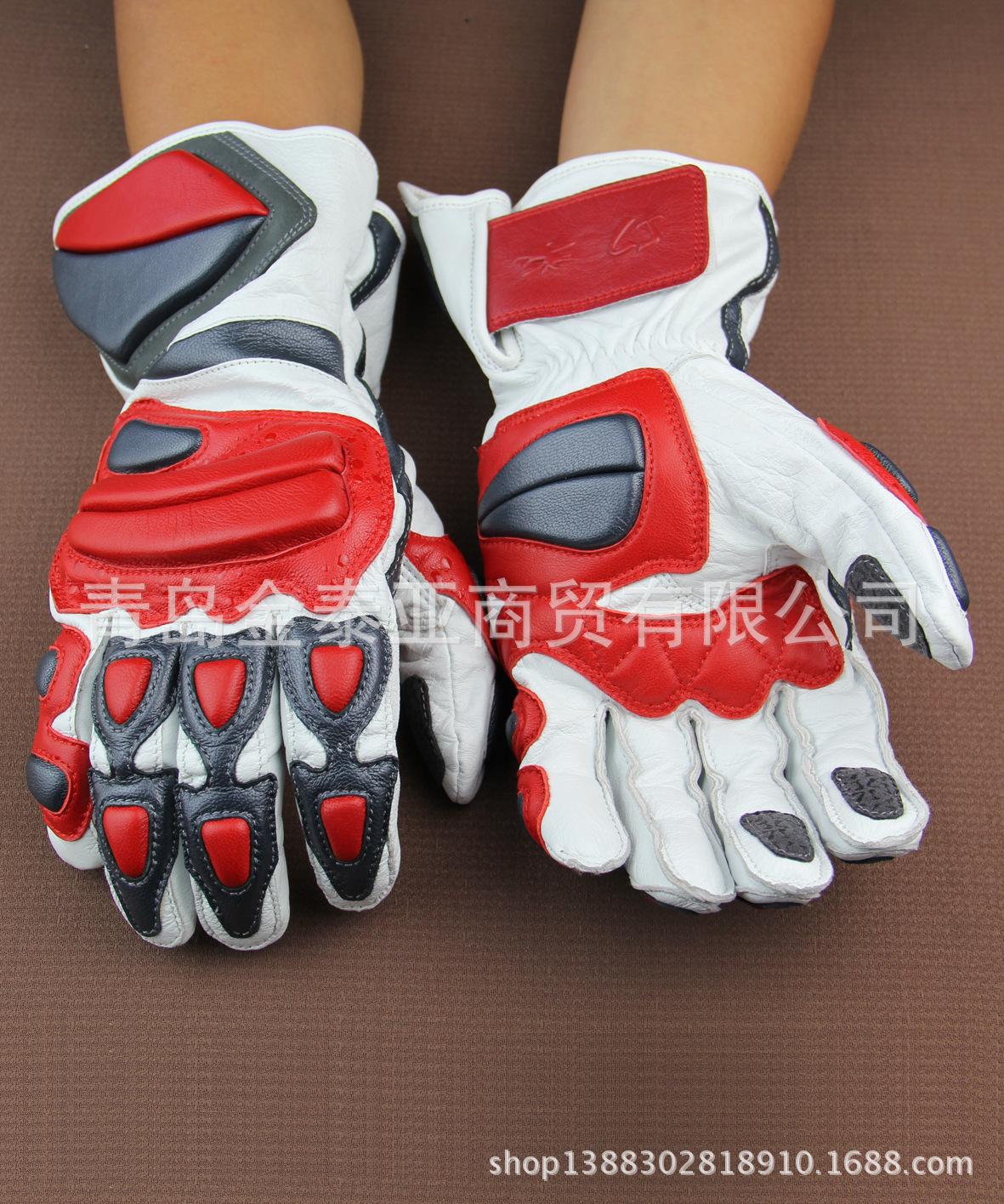 JTY摩托车/赛车专用纯皮(进口头层皮)手套防风保暖防震厂家***