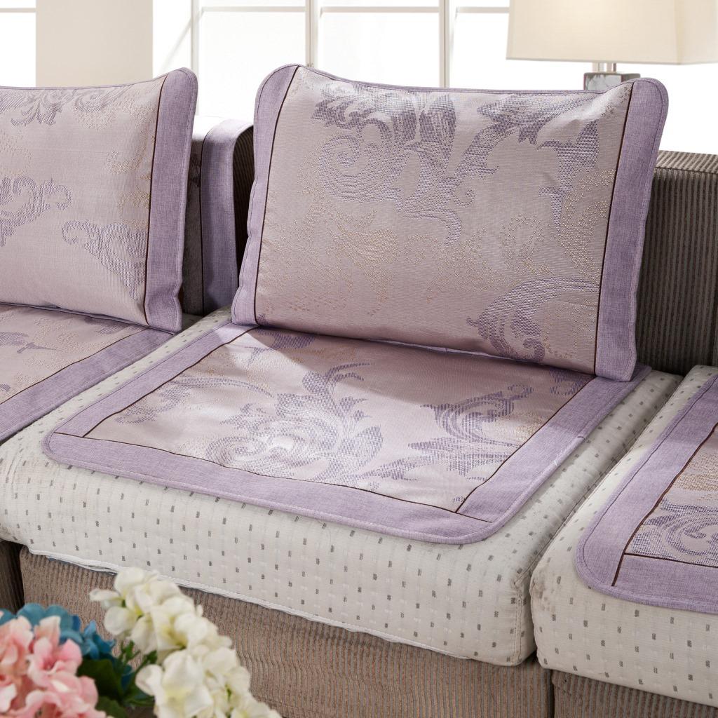 夏季冰丝沙发藤席沙发垫凉垫防滑沙发垫沙发套沙发罩 -价格,厂家