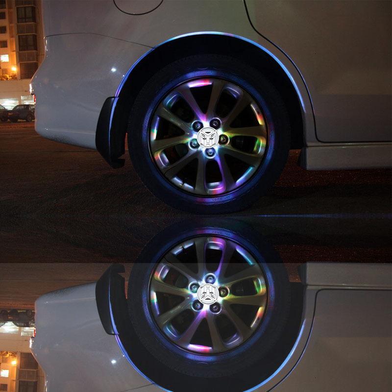 汽车改装灯 升级版太阳能风火轮轮毂灯 夜视 轮弧 汽车改装灯 阿里巴巴高清图片