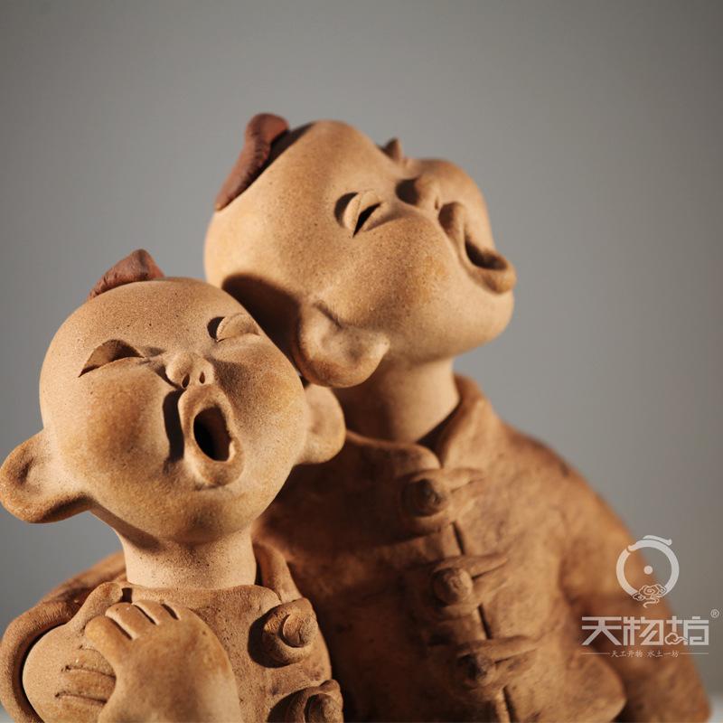 天物坊 ***哥俩好人物雕像 人物定制 陶瓷摆设 创意 人物摆件