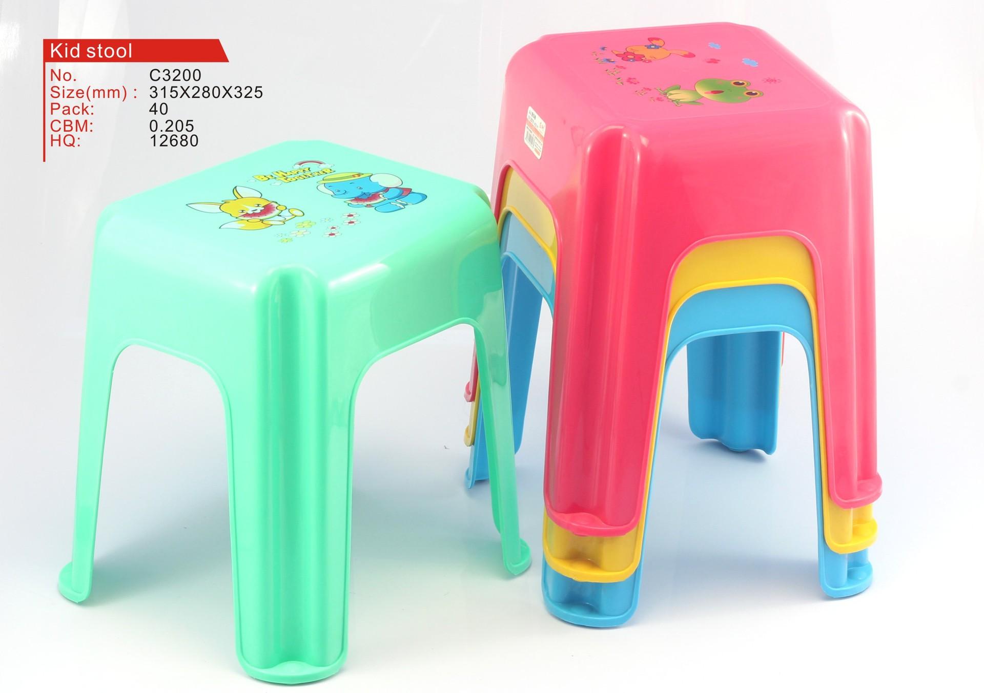 日用家居用品 新款塑料椅子 方形儿童椅子
