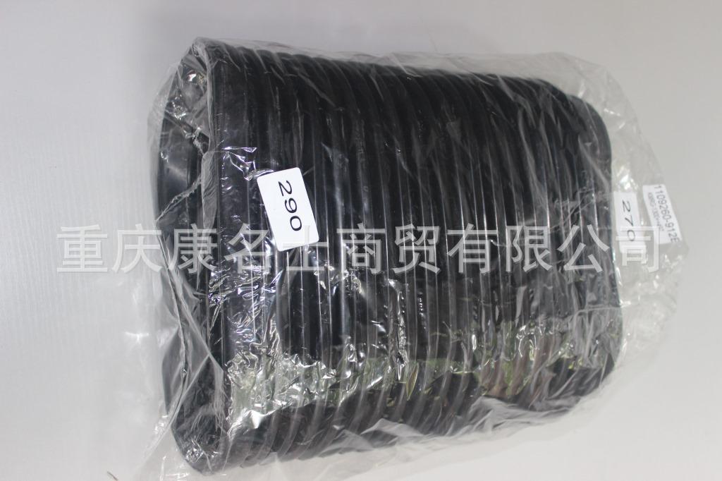 硅胶管耐温KMRG-1300++497-解放912E波纹管1109260-912E-汽车硅胶管,黑色钢丝无凸缘无直管内径270XL290XH330X-1