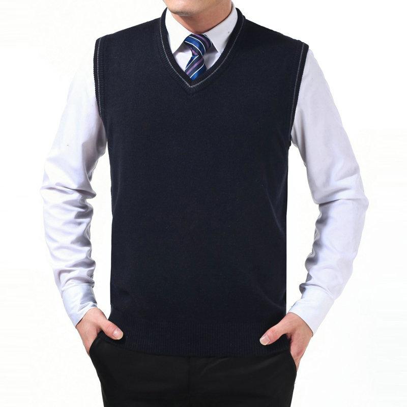 2014新款春秋男士背心 纯色针织羊毛背心 马保暖休闲男装甲8802