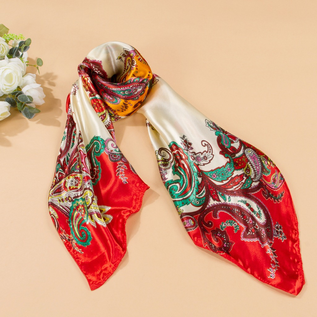 90 90cm large square printed silk scarves wholesale
