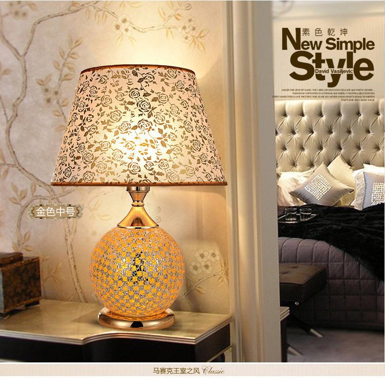 【红米】马赛克台灯纯手工一灯两用古风现代结合专业台灯厂