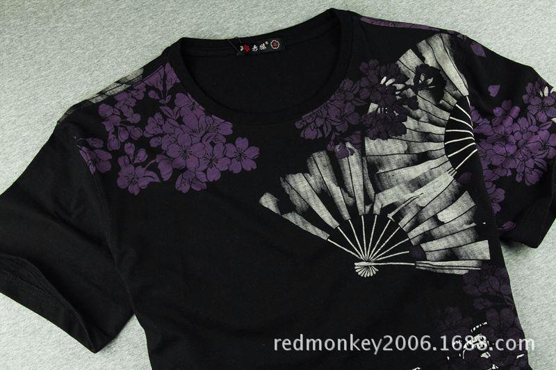 刺绣T恤 出口原单中国风刺绣T 刺青纹身 -男式T恤 中国黄页
