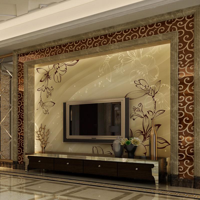 瓷砖电视墙 客厅瓷砖墙砖背景墙陶瓷 现代 简约