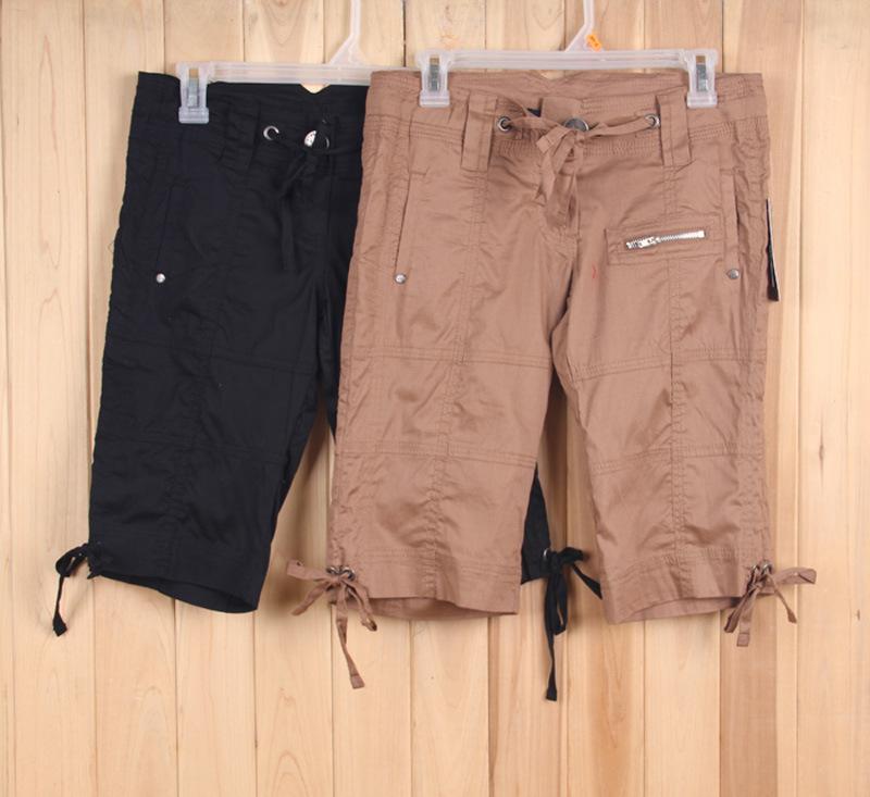 Juniors 多口袋 短裤 松紧腰|库存裤子批发,|,长裤,单价 14.69元,数量 11634件|服库网