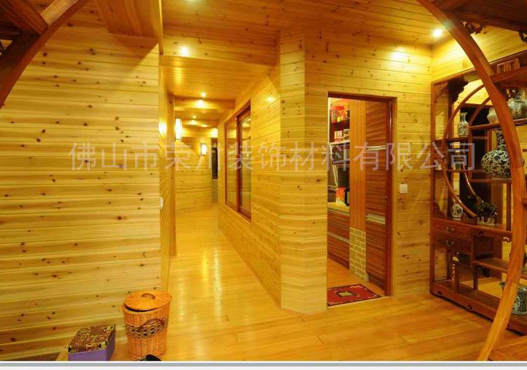 厂家直批杉木桑拿板 优质杉木上色性好 实木板吊顶墙壁墙裙板