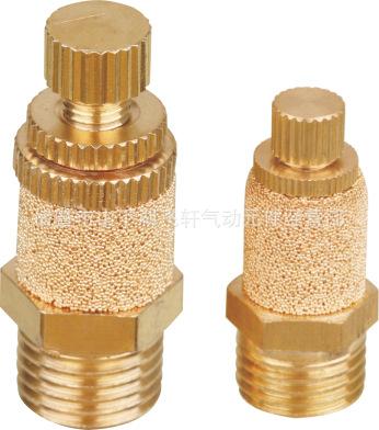 厂家直销 可调排气接头 6分黄铜消声节流阀外罩