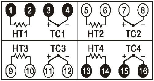 M20热流道温控箱接线方式2
