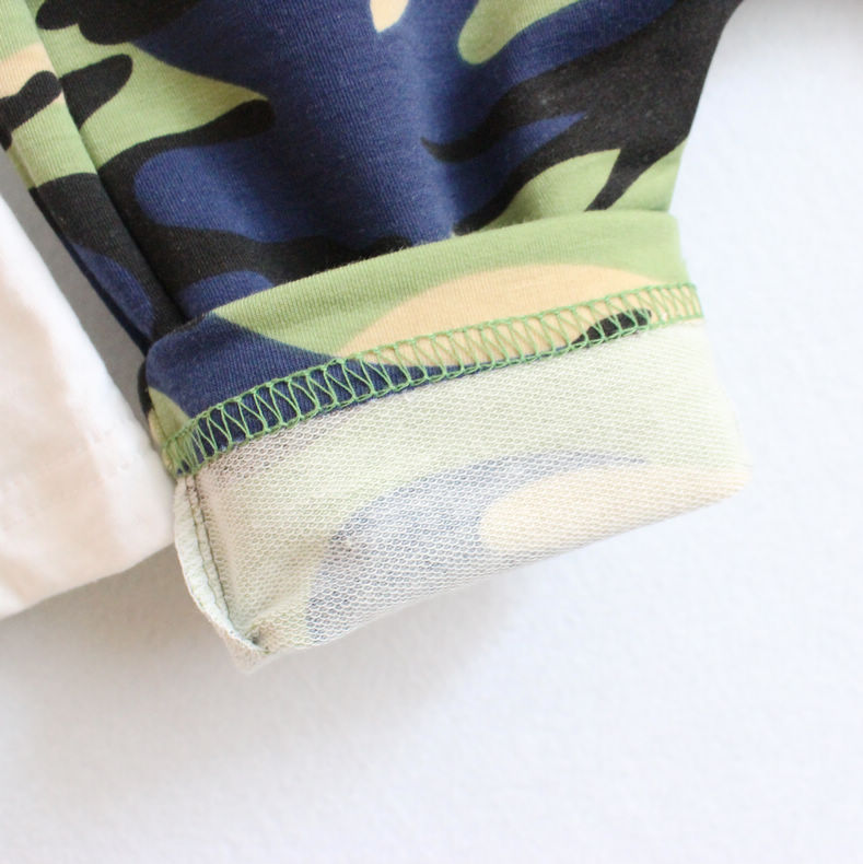 韩版儿童套装 童装男童夏装潮儿童套装纯棉夏季迷彩 阿里巴巴