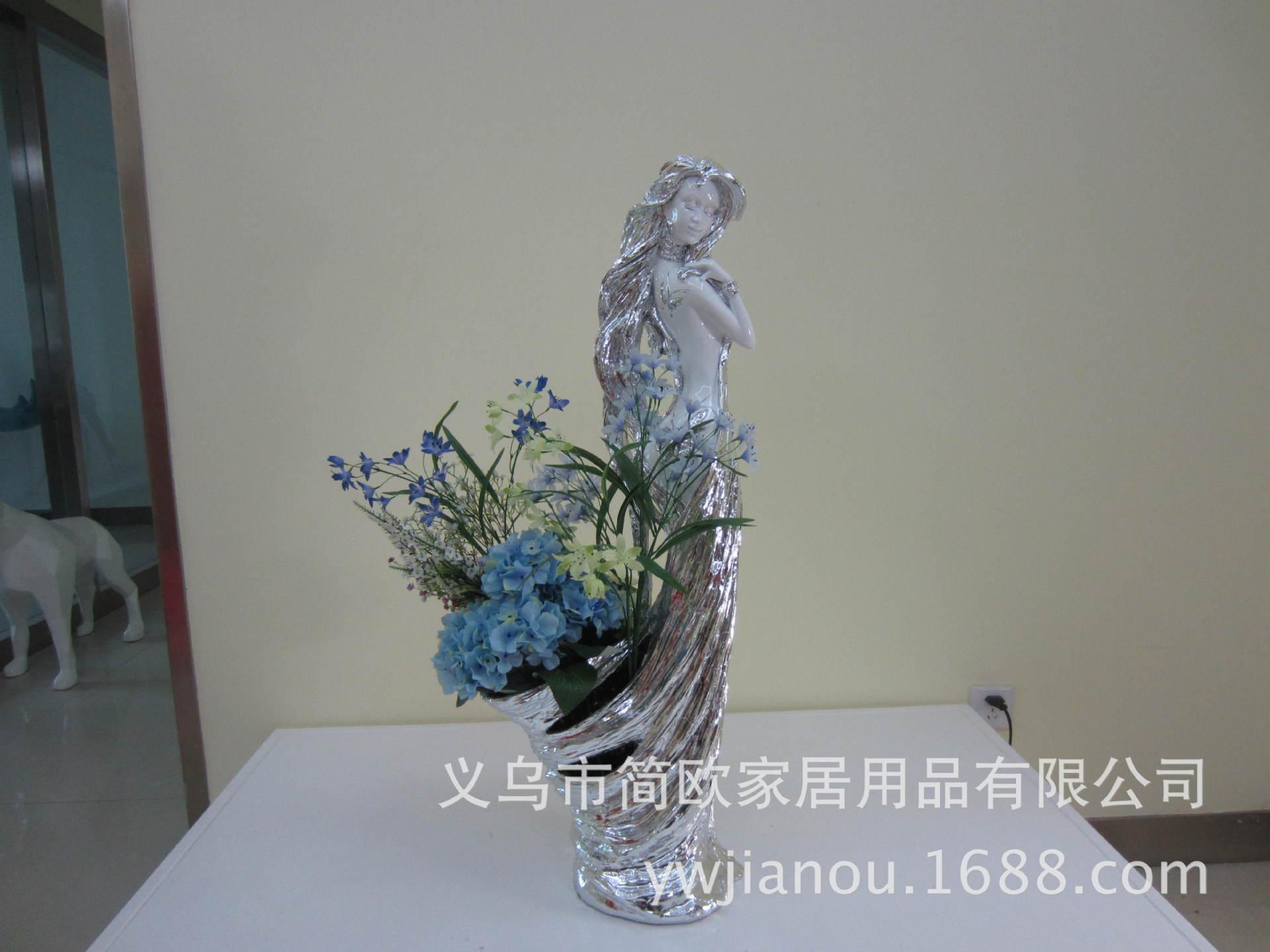 蝶女花篮 高档家居饰品摆件 树 -塑料 树脂工艺品 中国黄页图片