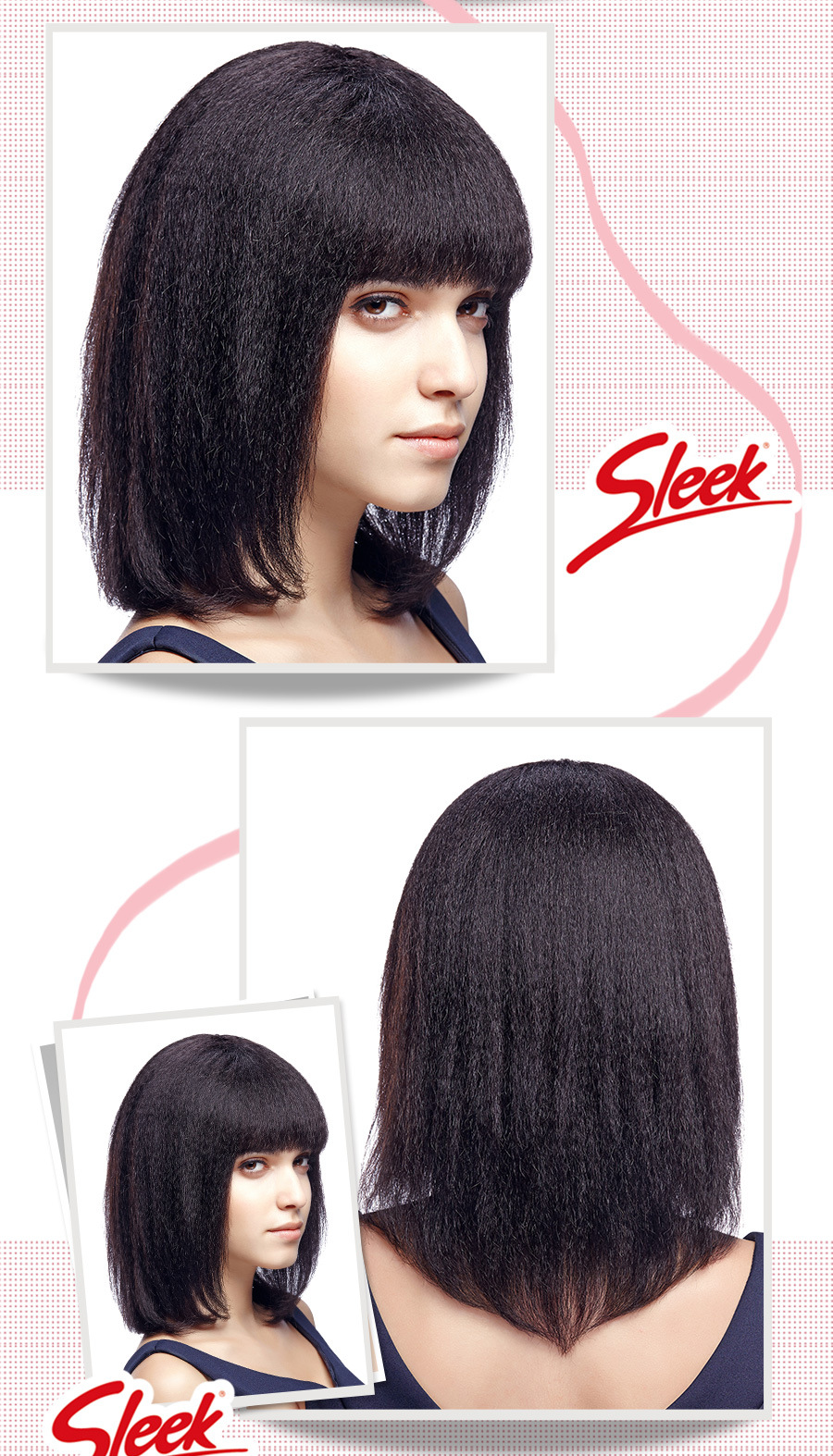 Sleek full lace human hair wigs, 100% perruque cheveux humain, Italian yaki full lace wig,Kinky Straight Lace Wig, Mommy wig