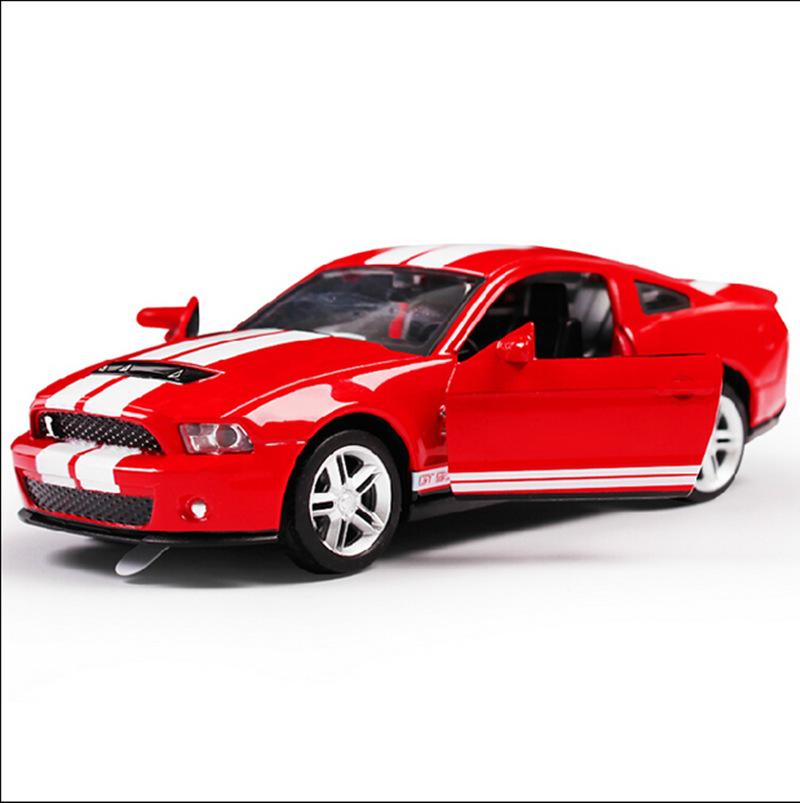 美致25068福特野马GT500双开门1:32精致合金声光合金汽车模型盒装