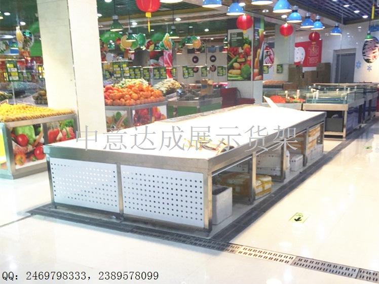 供應 江蘇省連鎖超市不銹鋼冰鮮臺訂做 廠家直銷