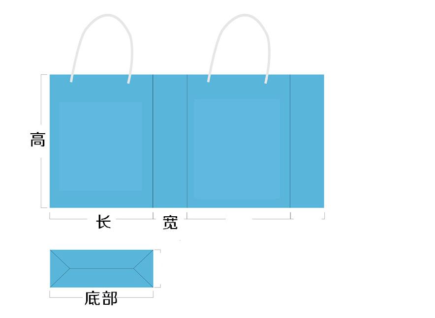 纸袋平面图