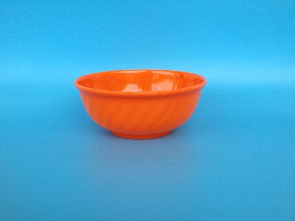 廠家直銷密胺餐具 外波紋密胺圓形彩色碗 麻辣燙密胺碗可來