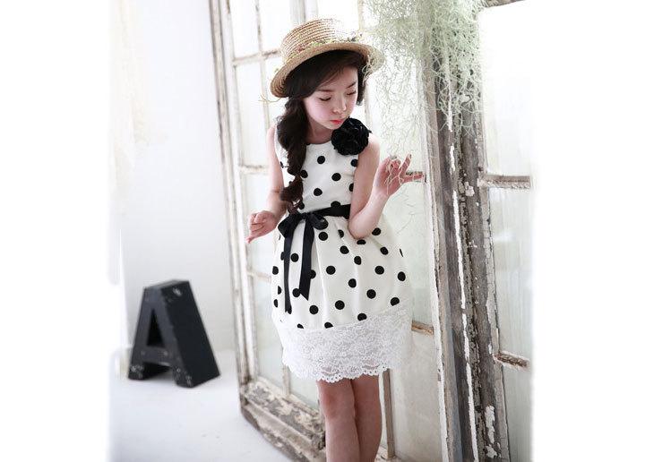 XQ536波点条纹裙2