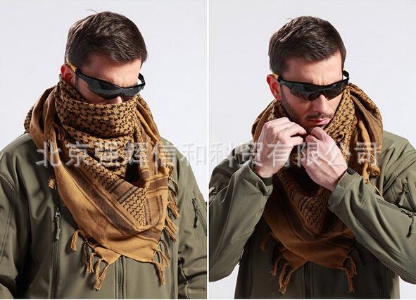 军迷户外战术围巾 阿拉伯方巾 保暖防寒围脖 男女纯棉头巾