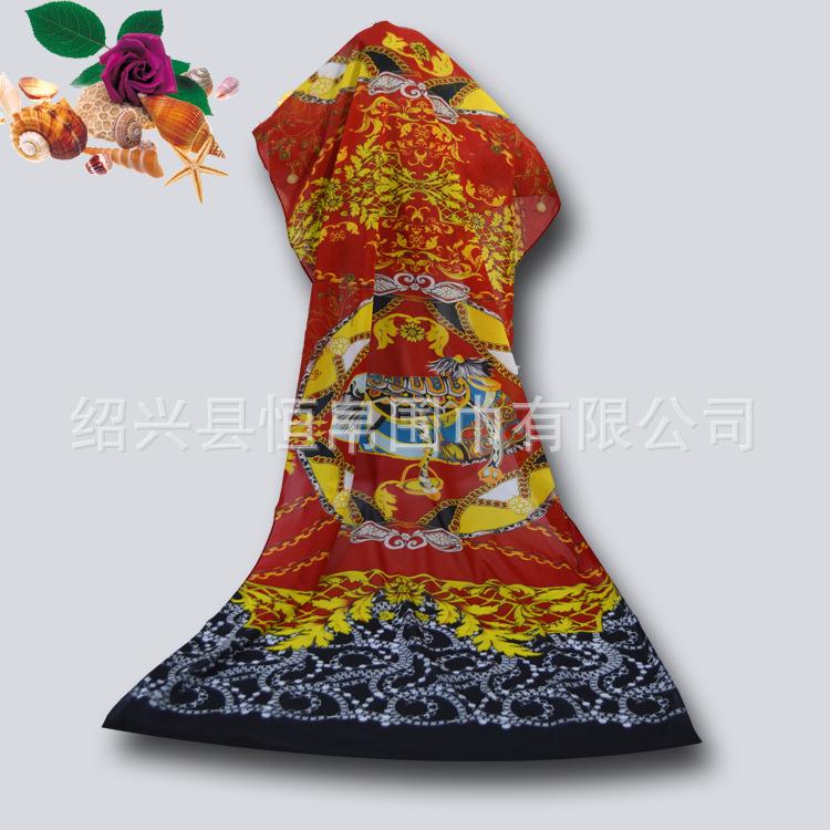 韩版秋冬热卖雪纺围巾 时尚雪纺丝巾披肩批发 绍兴厂家直销