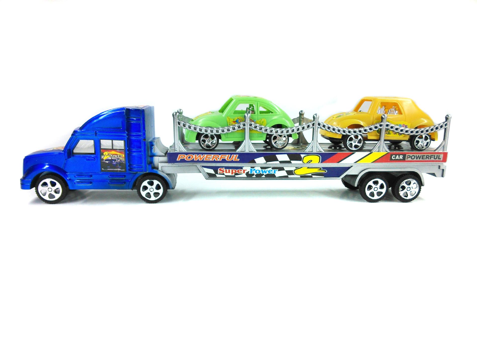 大货车模型批发 惯性运输货柜车 货车玩具 多款混装儿童男