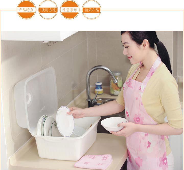 振兴餐具箱YHM5811(小号)/YHM5812(大号)餐具防菌防尘卫生收纳箱