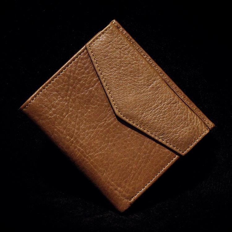 2015新款韩版进口头层牛皮男女士钱包真皮短款休闲信封钱包钱夹