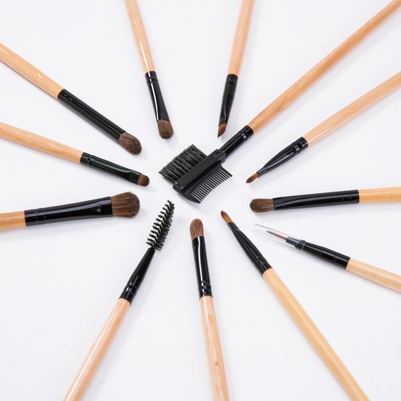 梦妆季专业化妆工具刷19支高档化妆刷木柄套刷可定制OEM/ODM批发